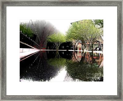 Vegas Reflections Framed Print by Tom Riggs