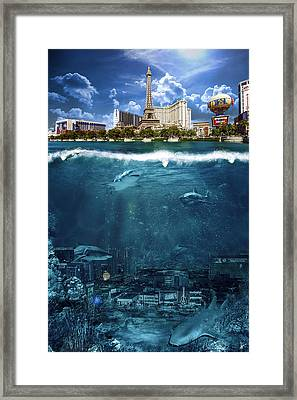 Las Vegas Sharks Framed Print by Nicholas  Grunas