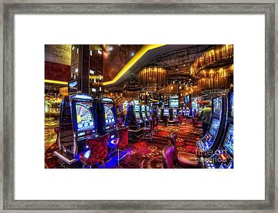 Vegas Slot Machines Framed Print by Yhun Suarez