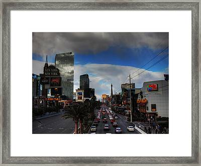 Vegas Strip 002  Framed Print by Lance Vaughn