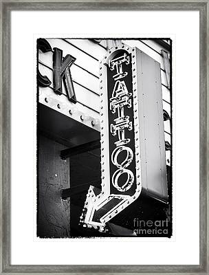 Vegas Tattoo Framed Print by John Rizzuto