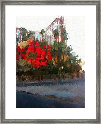 Vegas Treasure Island Casino Framed Print by Lin Pacific