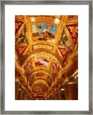 Vegas Venetian Ceilings Framed Print by Lin Pacific
