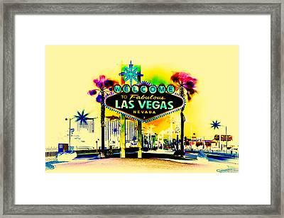 Vegas Weekends Framed Print