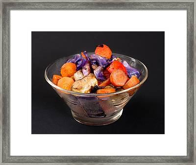 Vegetable Asian Stir Fry Framed Print by Donald  Erickson