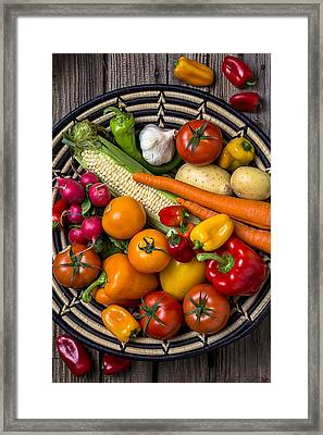 Vegetable Basket    Framed Print by Garry Gay