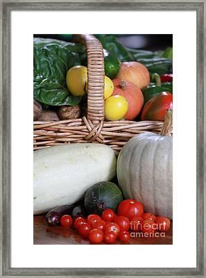 Vegetable Basket Framed Print