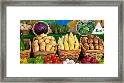 Vegetable Bounty Framed Print by Valerie Garner