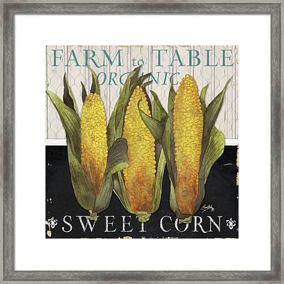 Vegetable Farm Fresh I Framed Print by Elizabeth Medley