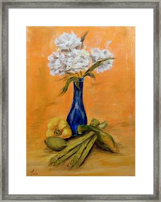 Vegetable Flower Still Life Framed Print