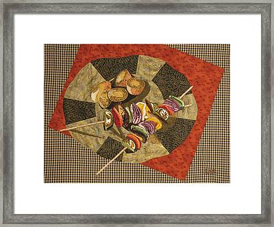 Vegetable Kabobs Framed Print by Lynda K Boardman