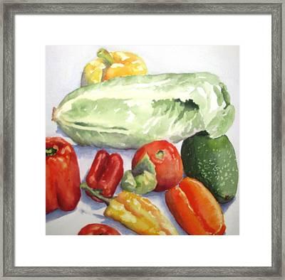 Vegetable Melange Framed Print by Maria Hunt
