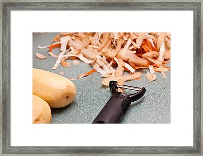 Vegetable Peelings Framed Print