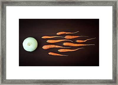 Vegetable Reproduction Framed Print