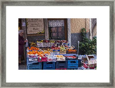 Vegetable Stand Italy Framed Print by Patricia Hofmeester