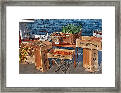 Vegetables At Floating Farmer's Market Framed Print by Valerie Garner