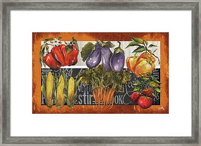 Vegetables Farm Fresh Framed Print by Elizabeth Medley