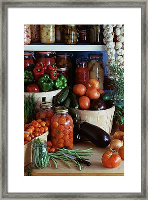 Vegetables For Pickling Framed Print by Emerick Bronson