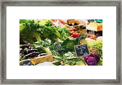 Vegetables For Sale  Framed Print by Garland Johnson
