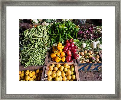Vegetables For Sale In Souk, Marrakesh Framed Print by Panoramic Images