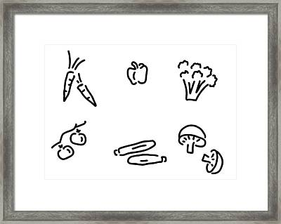 Vegetables Mushrooms Framed Print