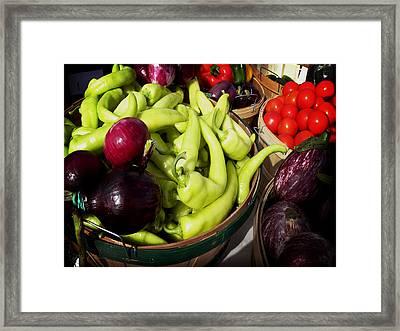 Vegetables Organic Market Framed Print by Julie Palencia