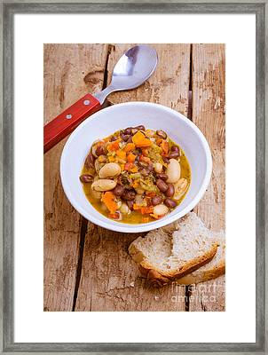 Vegetarian Chili With Pesto Framed Print