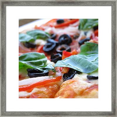 Vegetarian Pizza Framed Print by Keith May