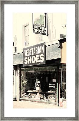 Vegetarian Shoes Framed Print by Jasna Buncic