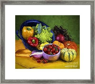Veggie Bowl  Framed Print by Mauro Celotti