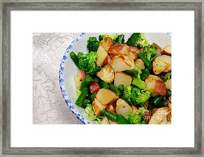 Veggie Medley Framed Print by Andee Design