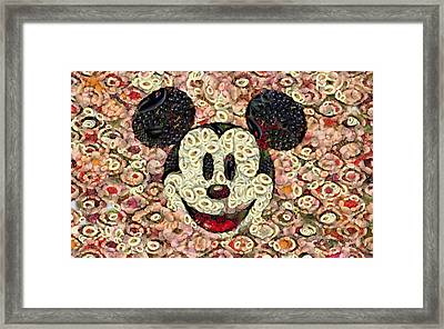 Veggie Mickey Mouse Framed Print by Paulette B Wright