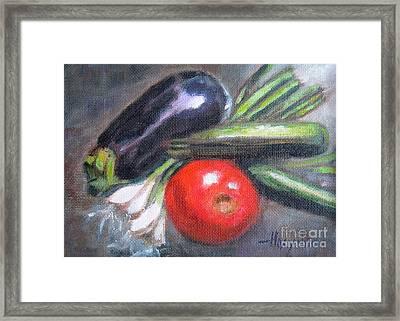 Veggies Framed Print by Addie Hocynec