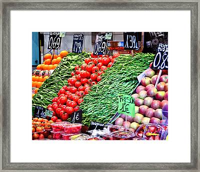 Veggies Anyone Framed Print