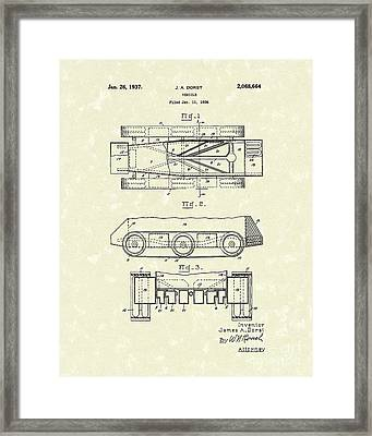 Vehicle 1937 Patent Art Framed Print