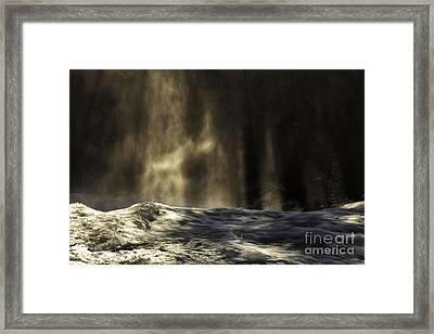 Veil Of Light And Mist Framed Print