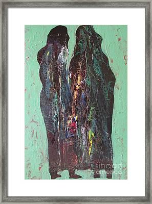 Veiled Conviction Framed Print by Omar Hafidi