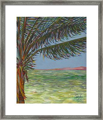 Veiled Horizon Framed Print by Karen Doyle