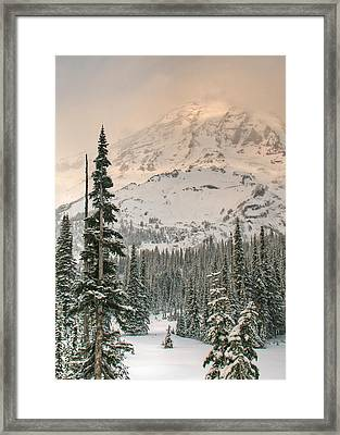 Veiled Mountain Framed Print by Jeff Cook