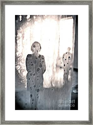 Veiled Strangers Framed Print by Edward Fielding