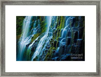 Veiled Wall Framed Print by Inge Johnsson