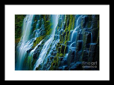 Cascade Framed Prints