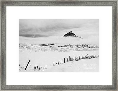 Veiled Winter Peak Framed Print