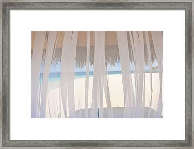 Veiled World. Maldives Framed Print