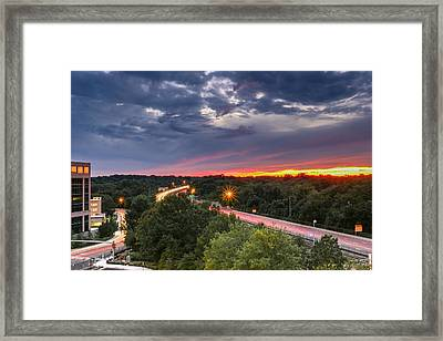 Into The Sunset Framed Print by Alex Daniels
