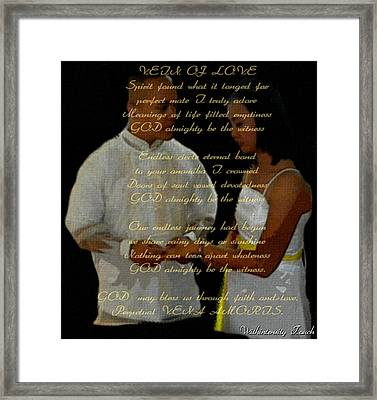 Vein Of Love Poem Framed Print
