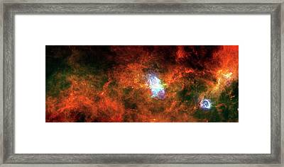 Vela-c Molecular Cloud Framed Print by European Space Agency/esa/pacs/spire/tracey Hill And Frederique Motte, Lab Aim Paris-saclay, Cea/irfu-cnrs/insu-university Paris Diderot