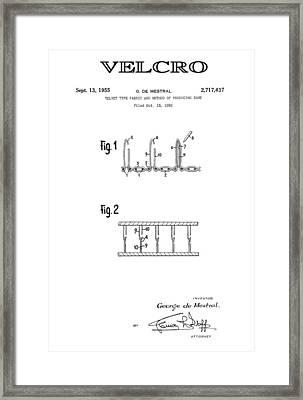 Velcro 3 Patent Art 1955 Framed Print by Daniel Hagerman