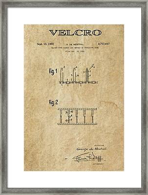 Velcro Patent Art  1955 Framed Print by Daniel Hagerman