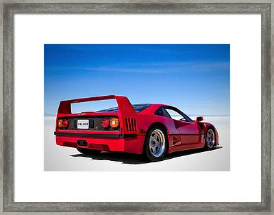 Veloce Equals Speed Framed Print by Douglas Pittman